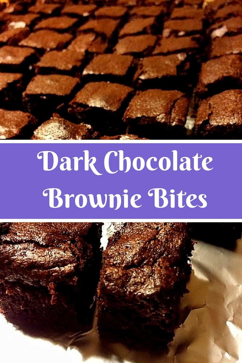Dark Chocolate Brownie Bites