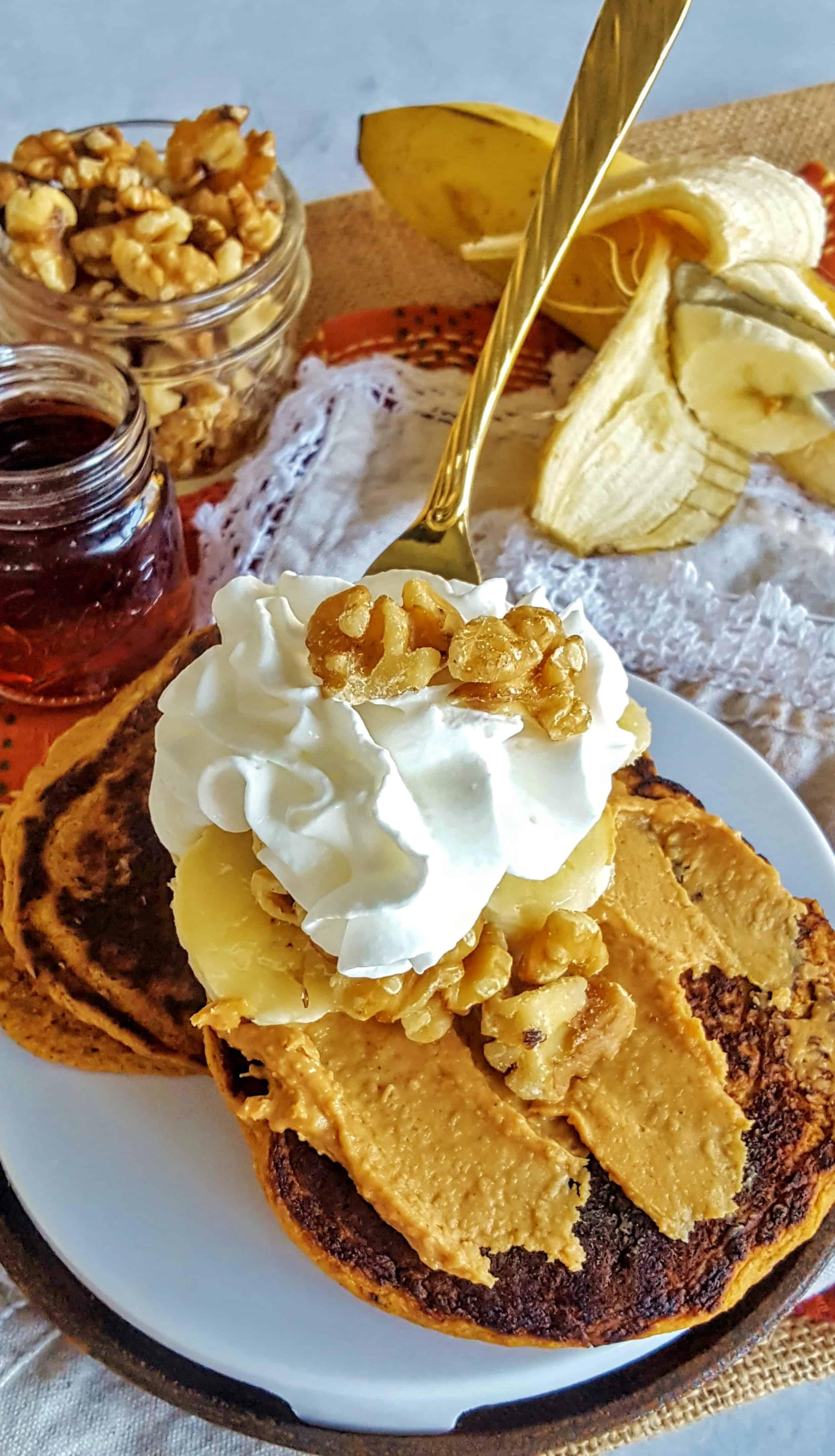 Sweet Potato Pancakes @shawsimpleswaps Low Sugar, High FIber, Full Flavor!