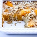 Oatmeal Peach Cobbler Bake