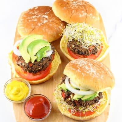 Gluten Free Sweet Potato Black Bean Burgers