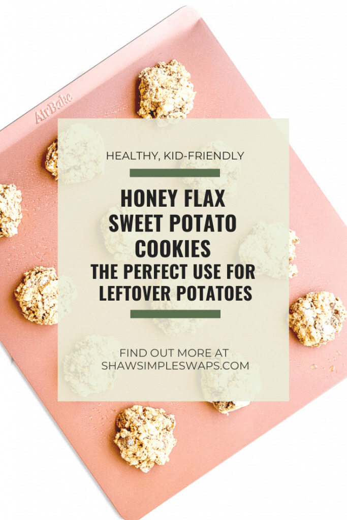 Honey Flax Sweet Potato Cookies - a healthy alternative to the sweet treats for the holiday season made with sweet potatoes! #healthycookiies #sweetpotatorecipes
