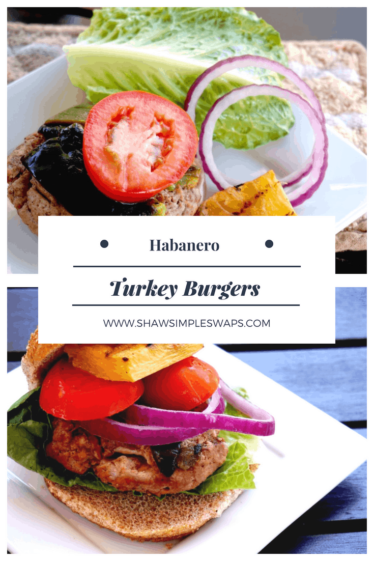 Cheesy Habanero Stuffed Turkey Burger @shawsimpleswaps