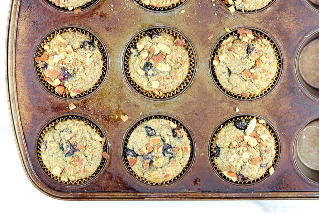 Image of fresh blueberry muffins.