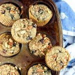 Image of blueberry muffins in a muffin tin.