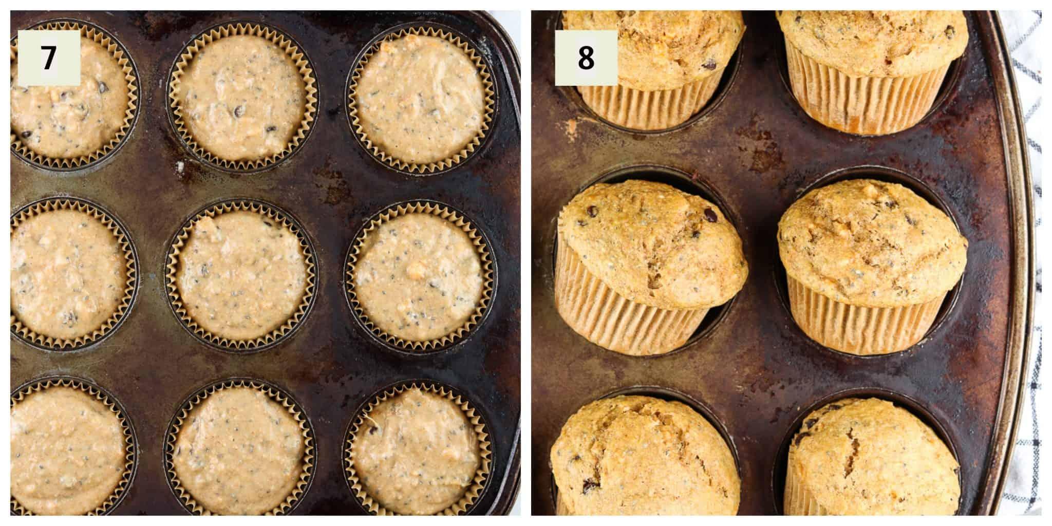Process shots to making sweet potato cake.