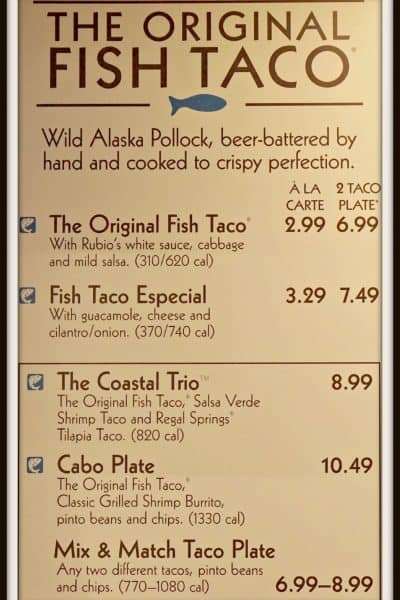 rest menu labeling