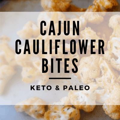 Cajun Cauliflower Bites