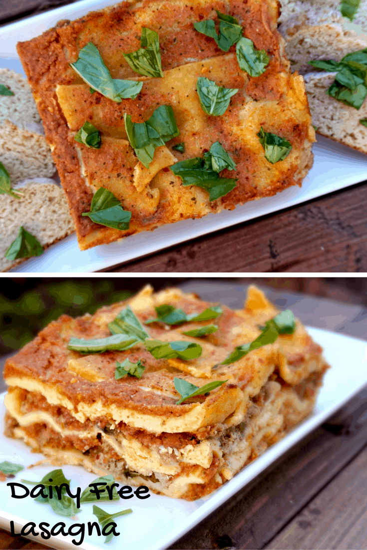 Dairy Free Lasagna- The perfect way to enjoy this Italian delight for all! @shawsimpleswaps