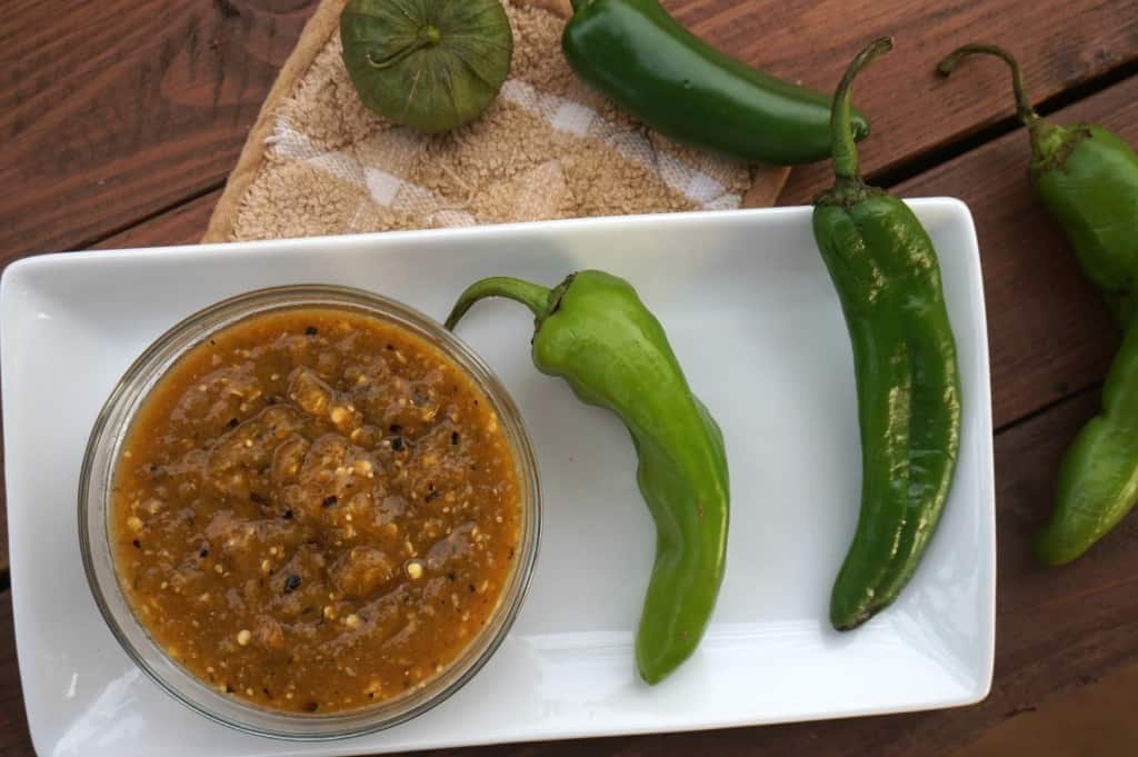 HATCH CHILI SALSA VERDE - @shawsimpleswaps GF, Vegan & Out of this world healthy salsa to whip up for your game day eats!