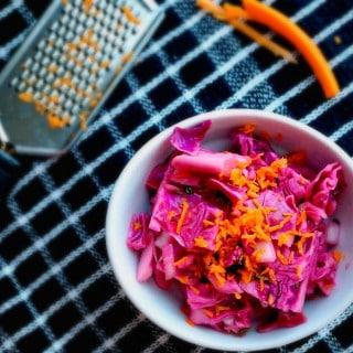 Vegan Jalapeno Cabbage Slaw
