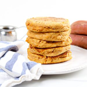 Image of sweet potato pancakes.