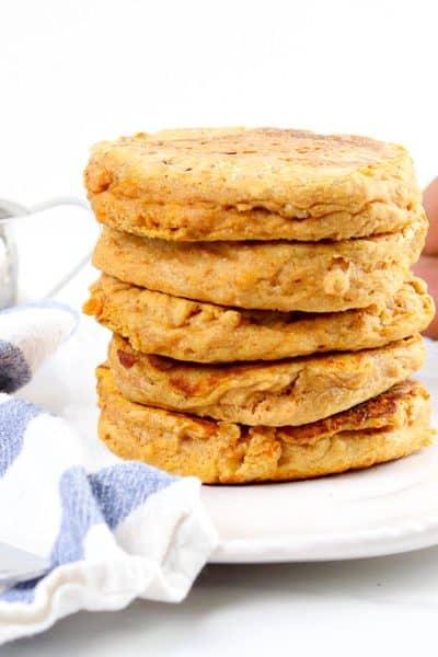 Image of sweet potato pancakes.