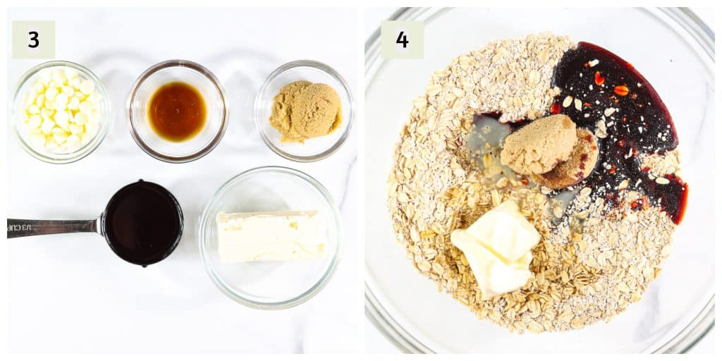 Process shot to make GF Gingerbread Cookies.