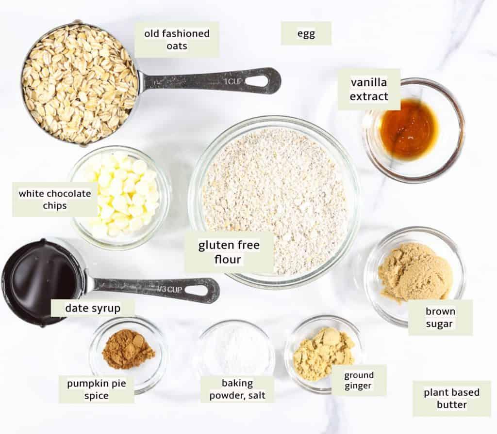Ingredients to make GF Gingerbread Cookies.