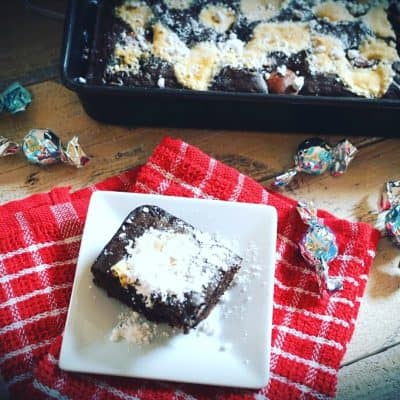 Hot Chocolate Cake Bars with Marshmallows