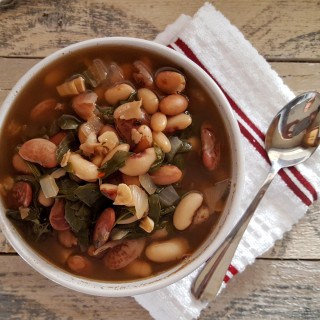 Heirloom Bean and Spinach Soup