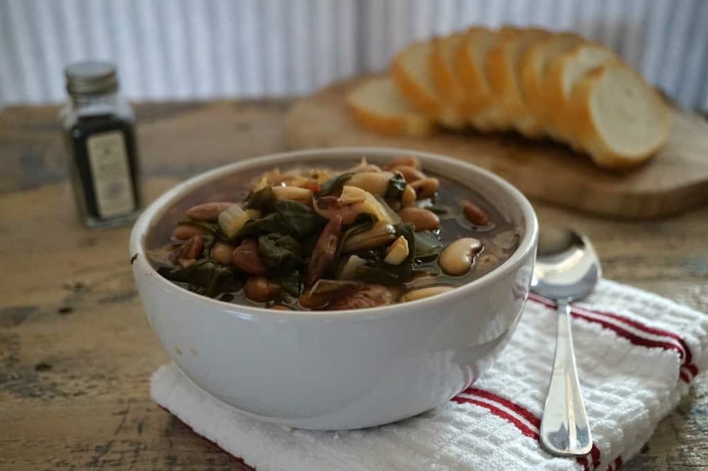 Heirloom Bean & Spinach Soup - Vegan GF - Shaw's Simple Swaps