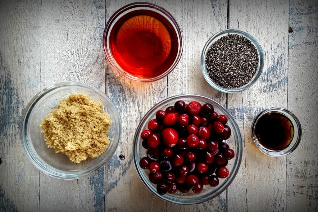 Cranberry Chia Jam Ingredients from Shaw Simple Swaps