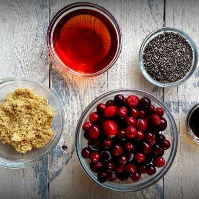 Homemade Cranberry Chia Jam