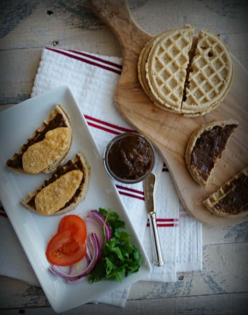 Gardein Chicken and Waffles Sammies- Shaw's Simple Swaps