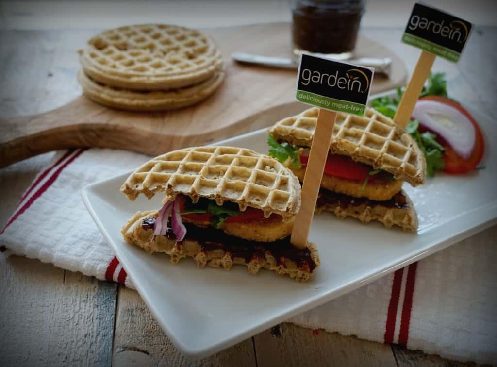 Gardein Chickn Waffle Sammies- Shaw's Simple Swaps