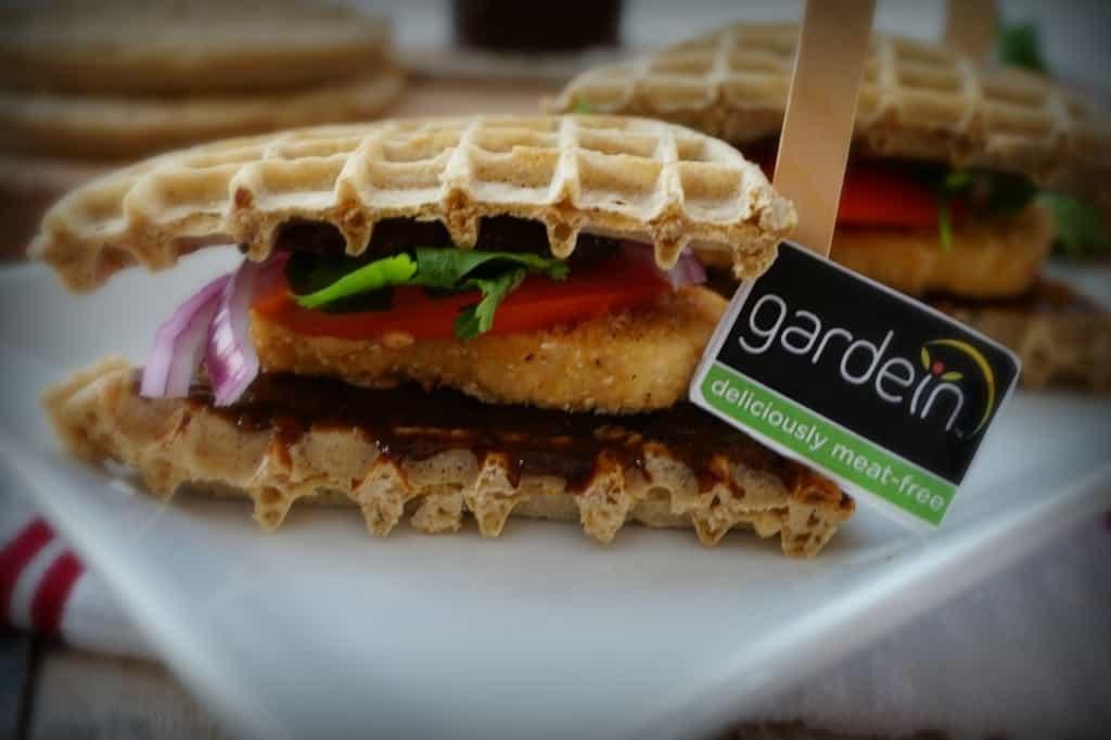 Gardein Chicken and Waffles Sammies- Shaw's Simple Swaps 6