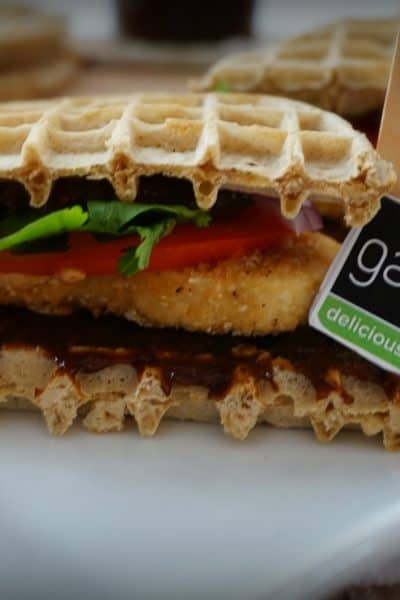 Gardein Chicken and Waffles Sammies- Shaw's Simple Swaps 6