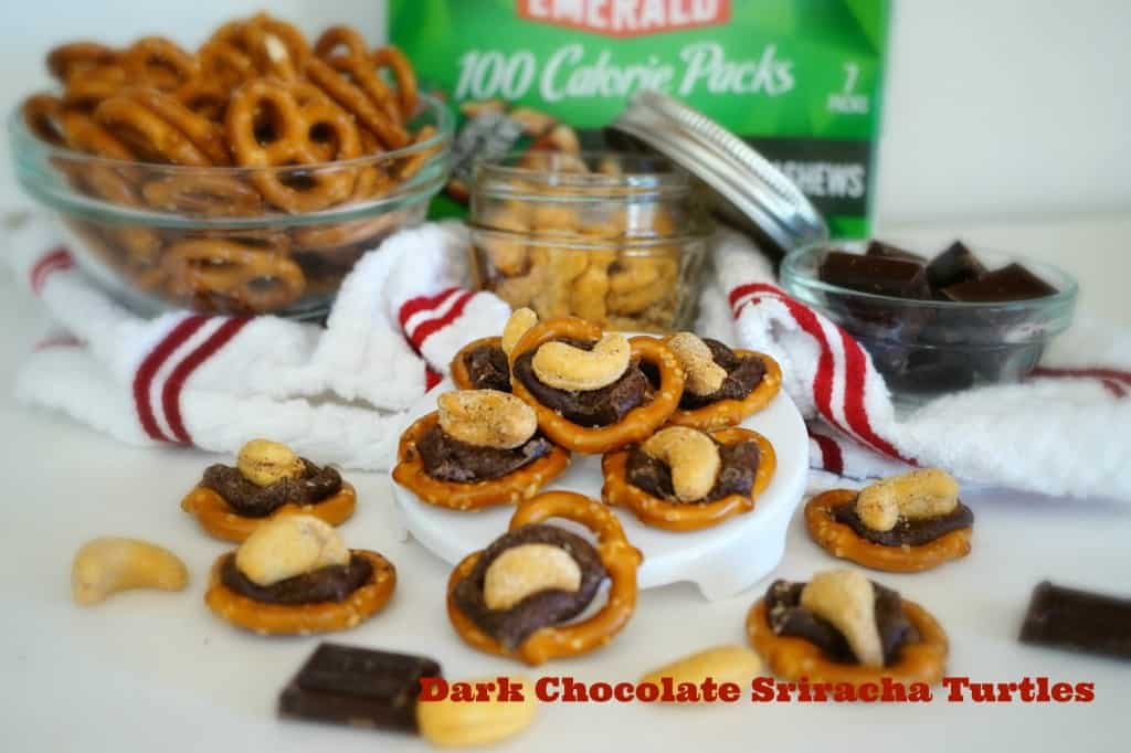 Dark Chocolate Sriracha Turtles - Shaw's Simple Swaps Text