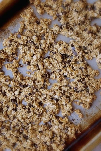 Gluten Free Crunchy Chocolate Chip Granola with Amaranth- Shaws simple swaps