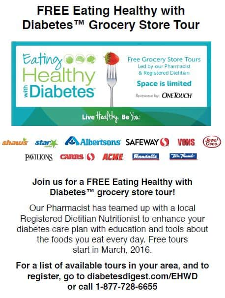 How to eat healthy with diabetes store tour- shaw's simple swaps