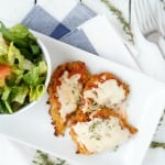 Open Faced Italian Grilled Cheese with Cauliflower Toast - Shaws Simple Swaps 1