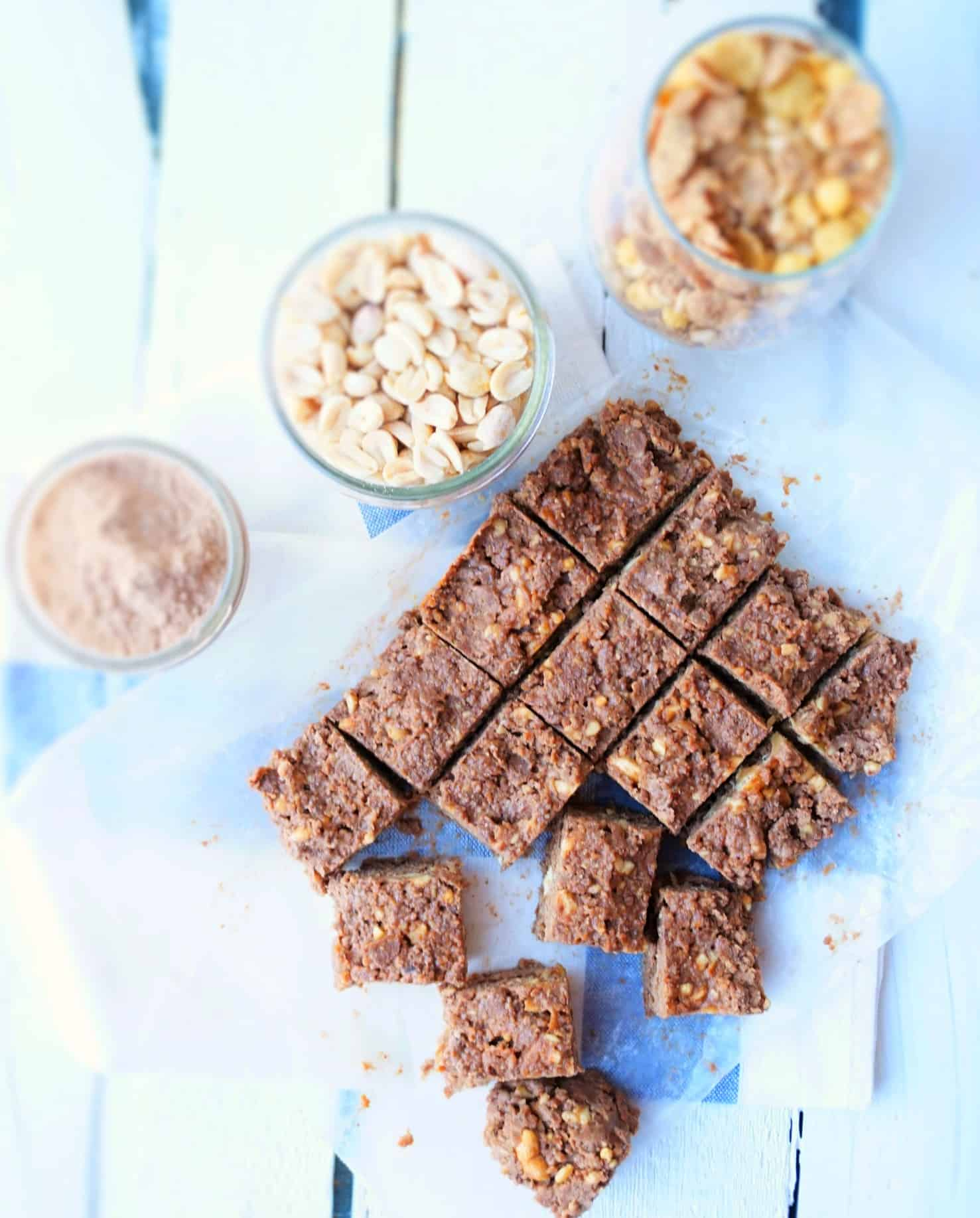 Raw Chocolate Peanut Butter Protein Bars Shaws Simple Swaps 2