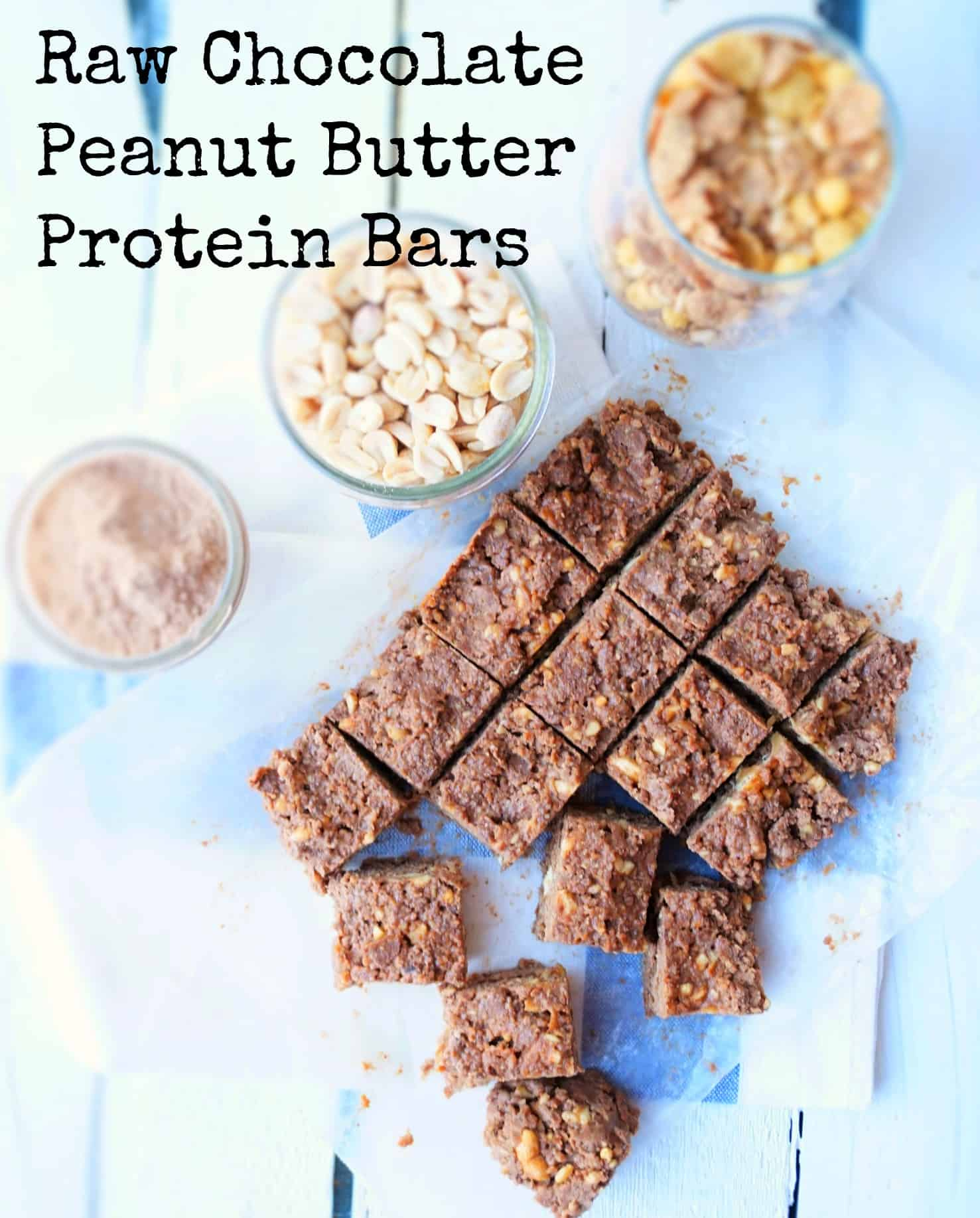 Raw Chocolate Peanut Butter Protein Bars Shaws Simple Swaps 4