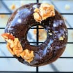 chocolate peanut brittle baked donuts shaws simple swaps