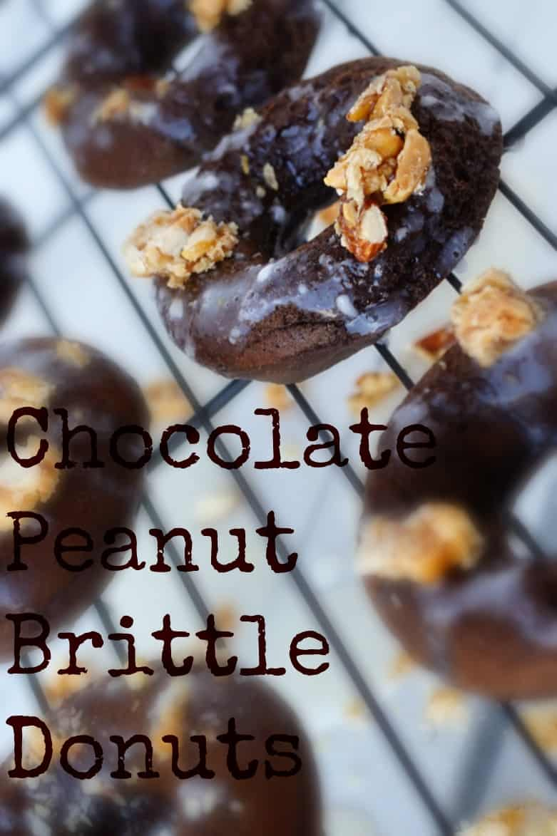 chocolate peanut brittle baked donuts shaws simple swaps 5