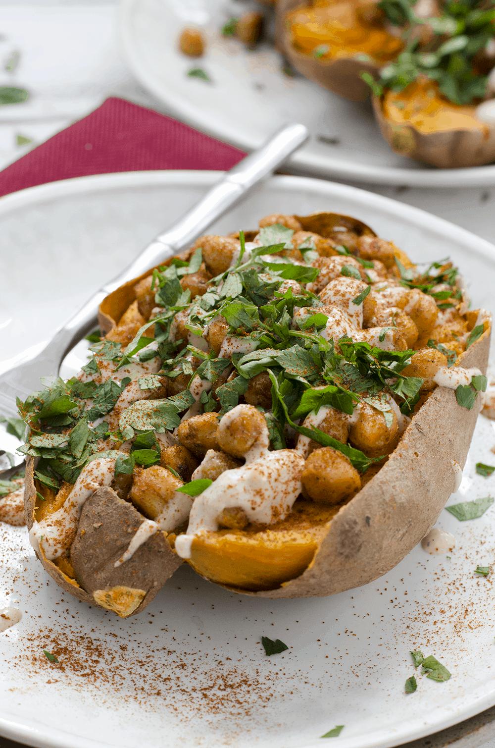 Meet Alex Caspero Lenz + Vegan Stuffed Sweet Potatoes