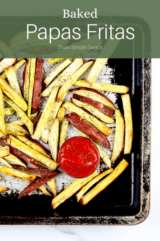 Pinable image of papas fritas.