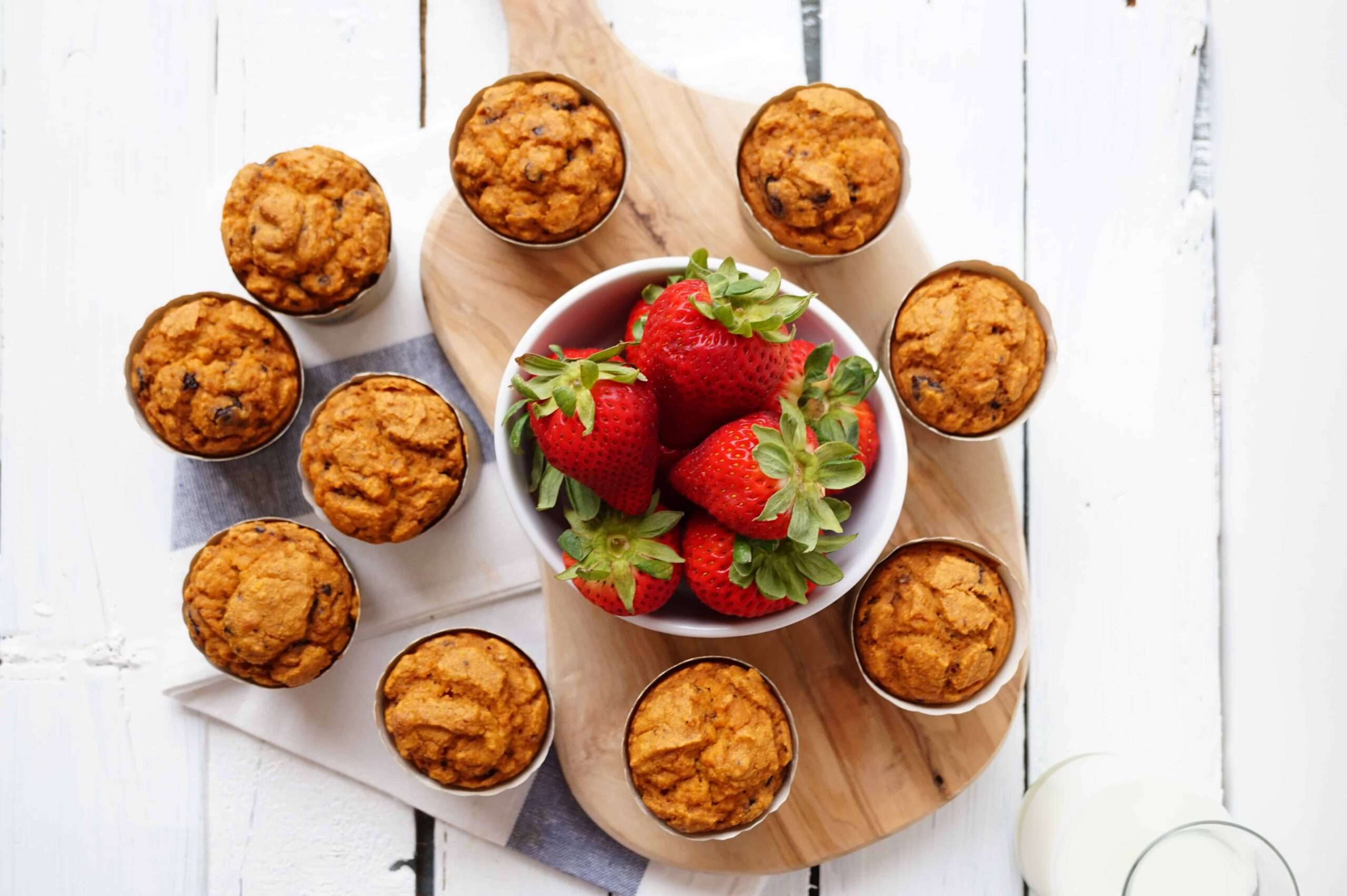 whole wheat chocolate chip muffins- Shaw's Simple Swaps