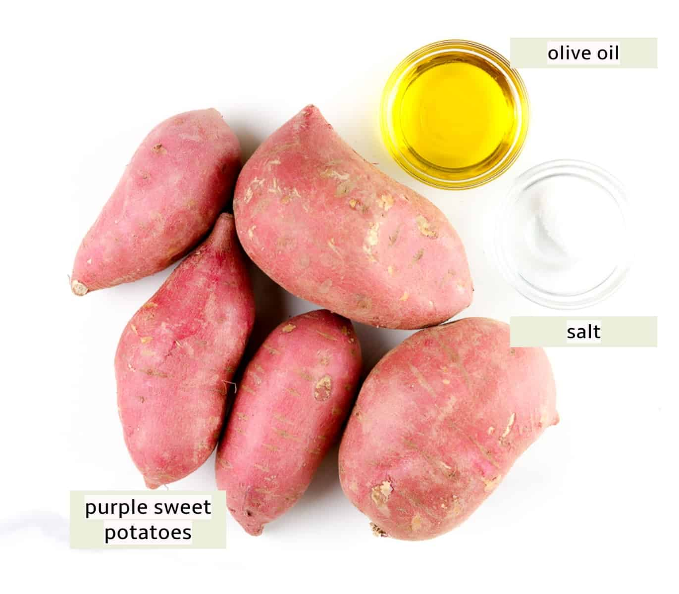 Image of ingredients needed to make papas fritas.