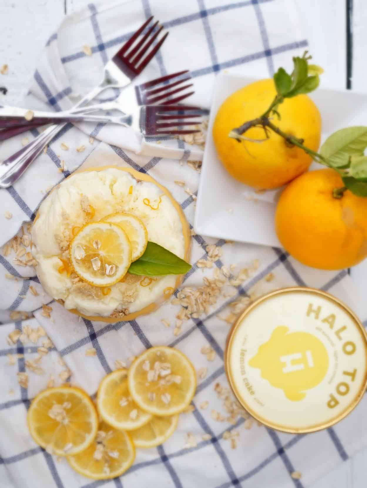 Lemon Bar Ice Cream Cake Shaws Simple Swaps 2