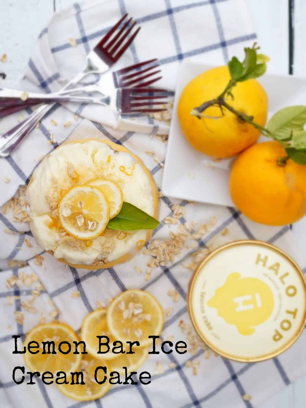 Lemon Bar Ice Cream Cake Shaws Simple Swaps 2