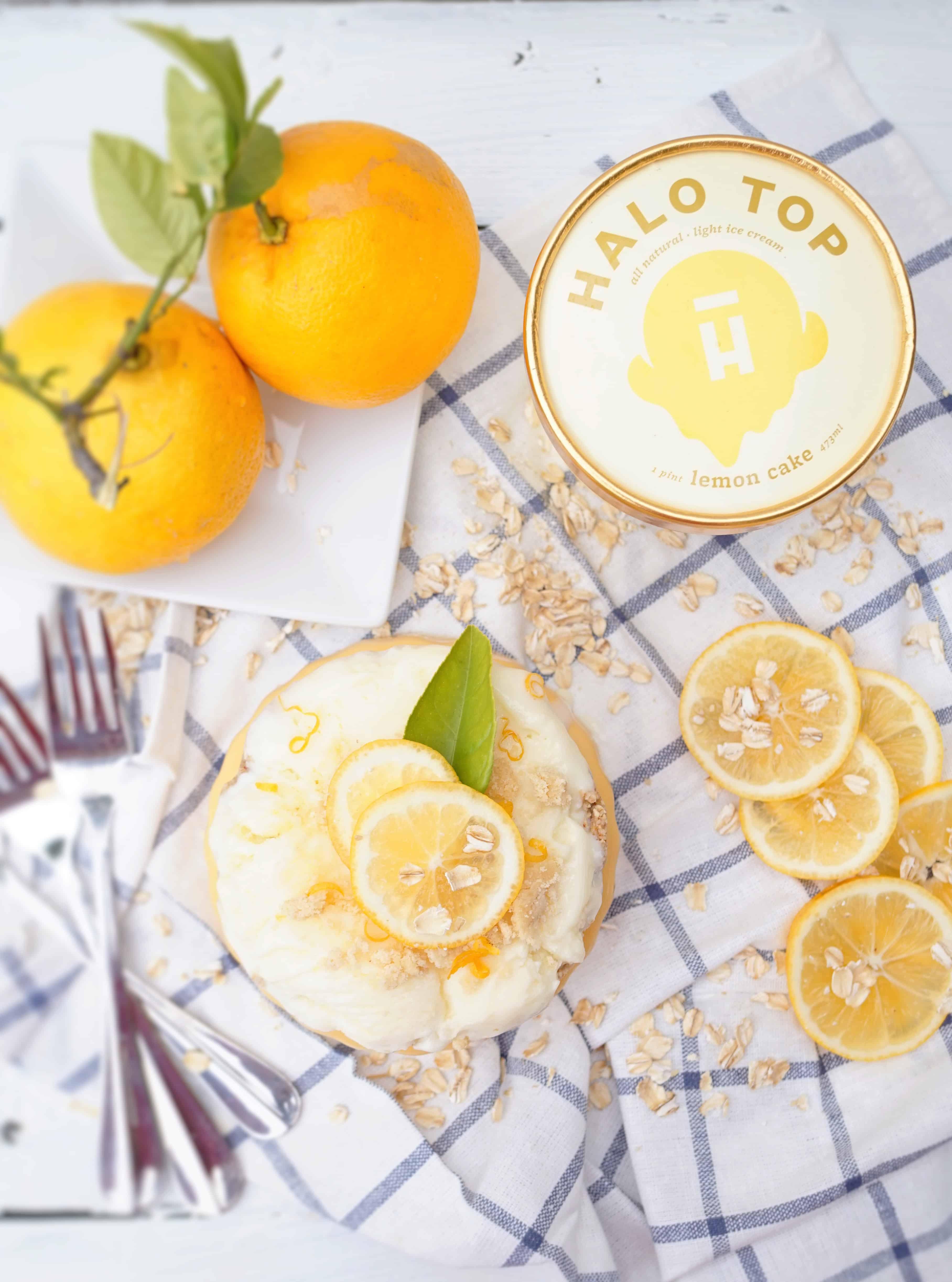 Lemon Bar Ice Cream Cake