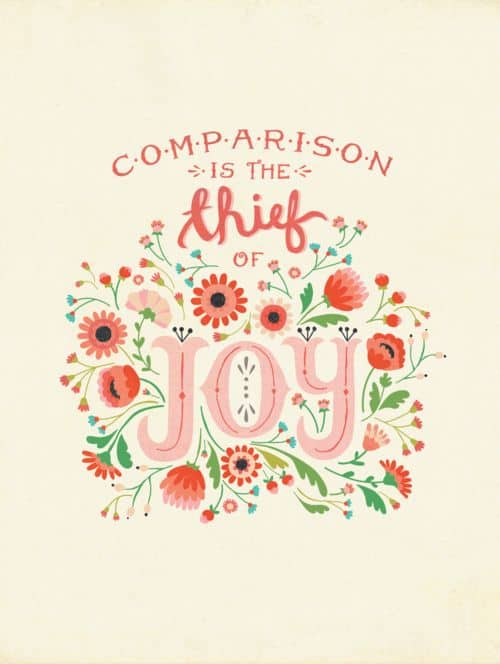 comparison is the thief of joy- shaws simple swaps