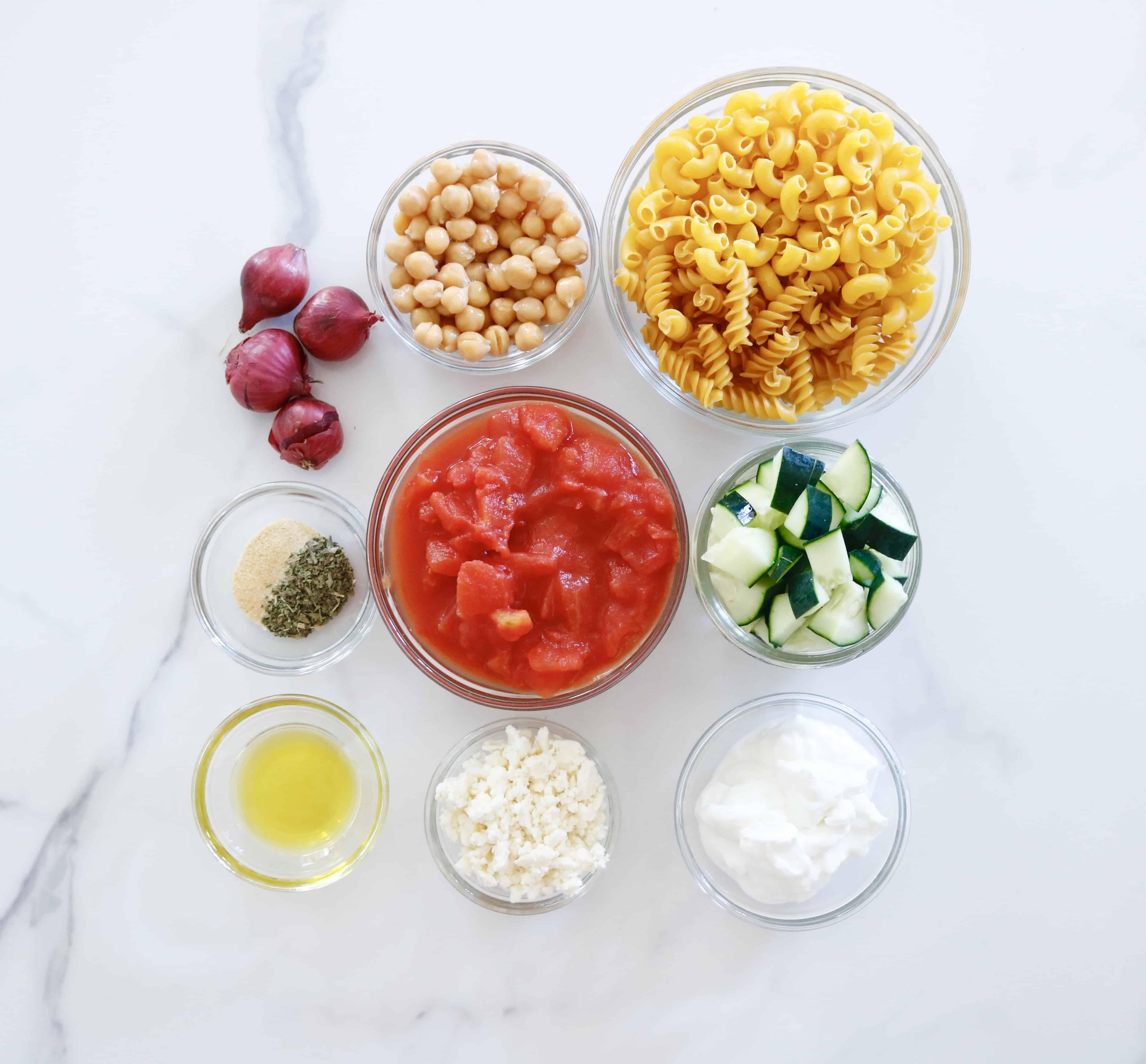 Mediterranean Pasta Salad - Vegetarian & Gluten Free @shawsimpleswaps
