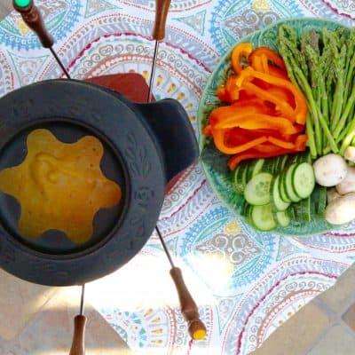 Vegan Cheese Fondue + Sharon Palmer's Cookbook Giveaway