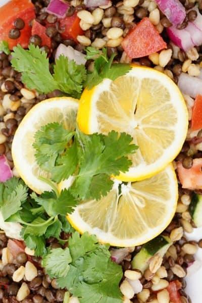 Crisp Lentil Salad- Shaws Simple Swaps