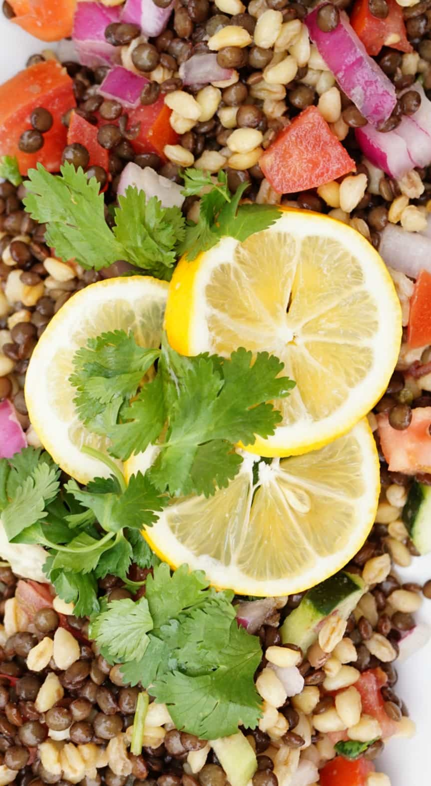 Crisp Lentil Salad- Shaws Simple Swaps