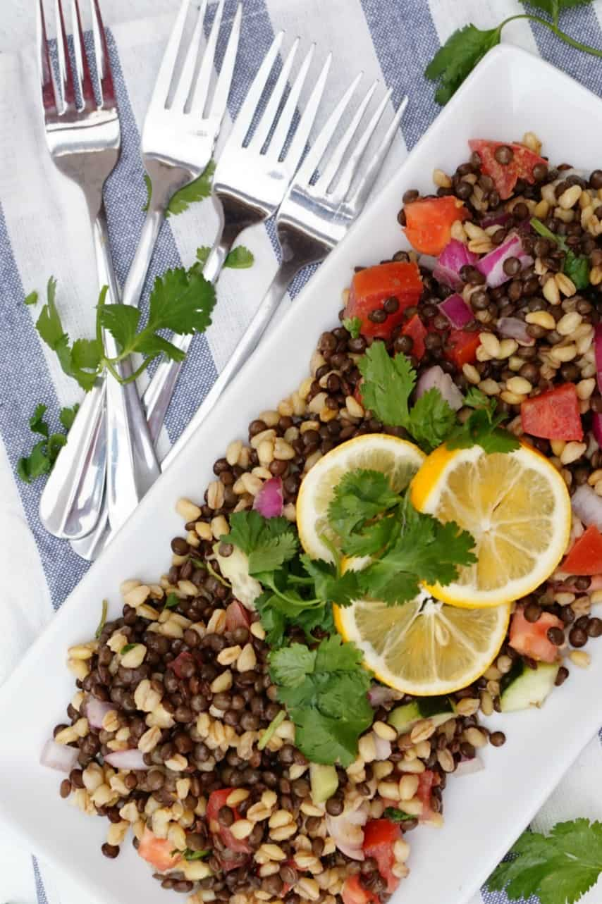 Crisp Lentil Salad- Shaw's Simple Swaps