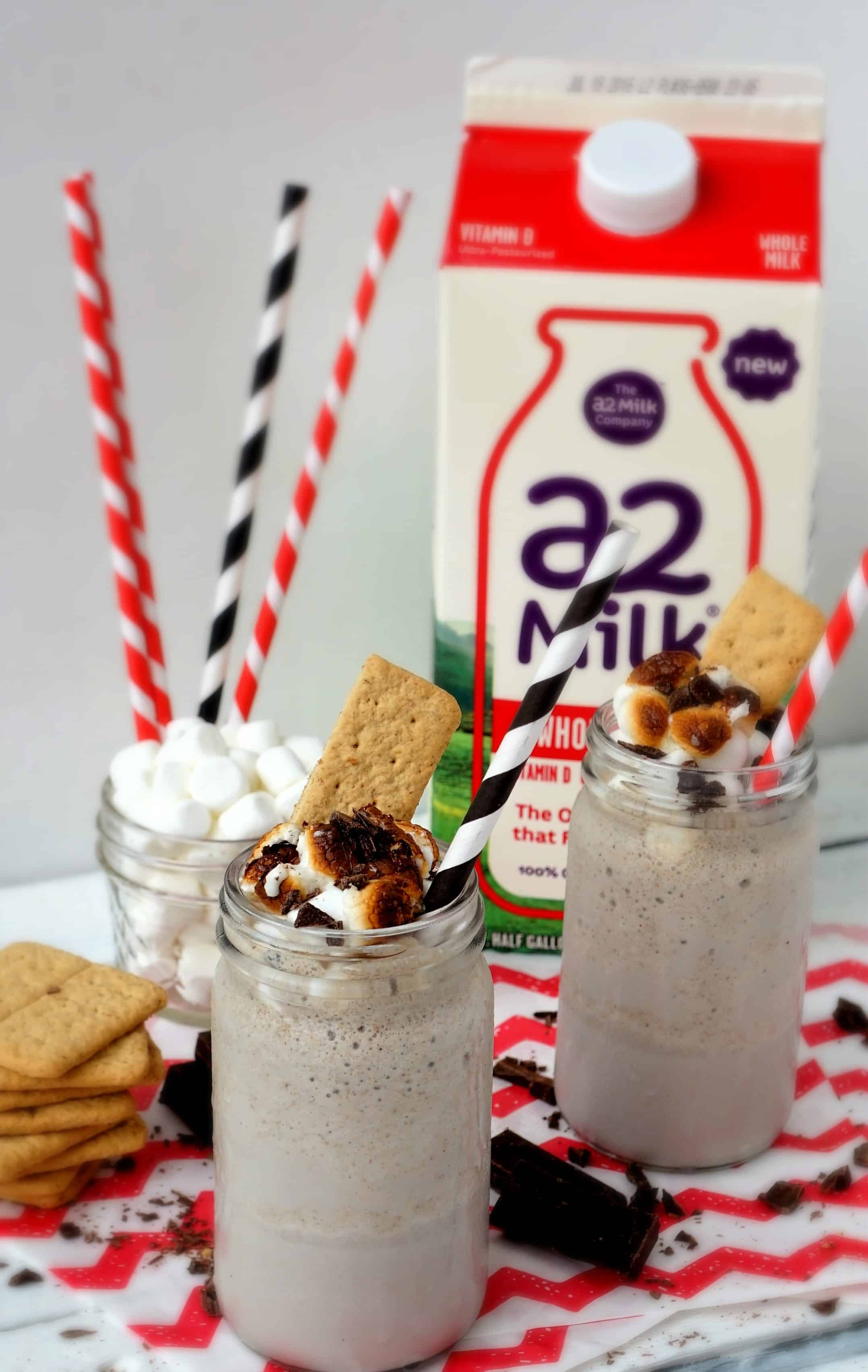 toasted s'mores milkshake shaws simple swaps 2
