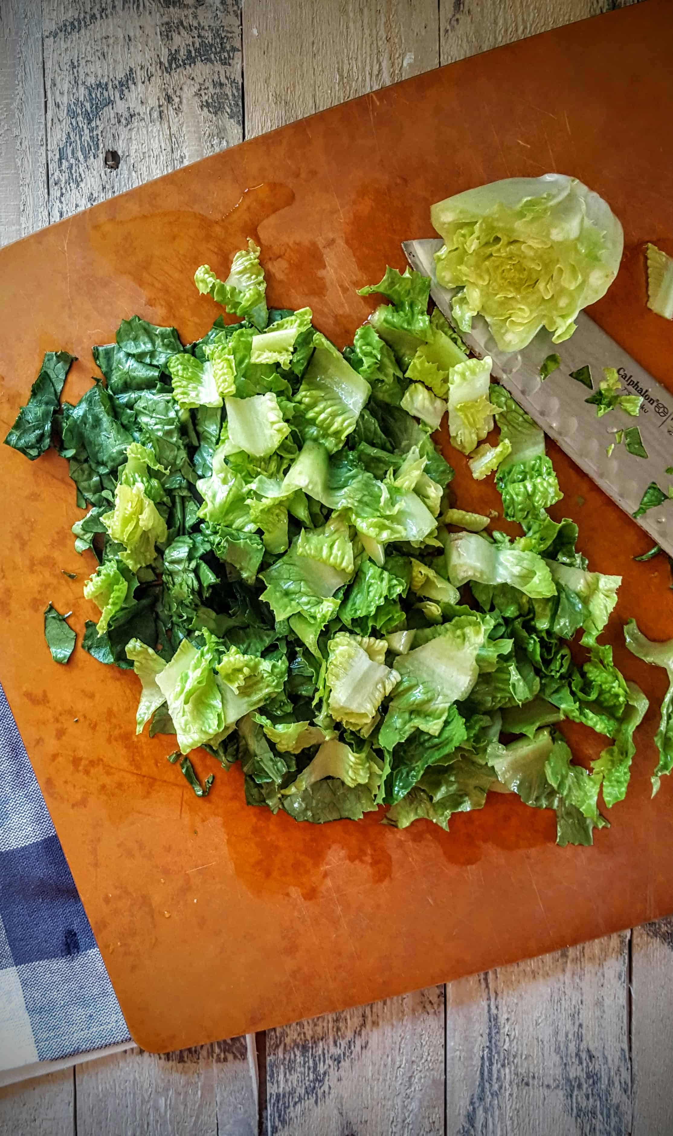 Broiled Romaine Salad with Diced Tomatoes and Fresh Dill- Shaw's Simple Swaps